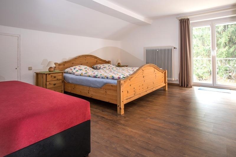 Schlafzimmer im Ferienhaus am Kapellenweg