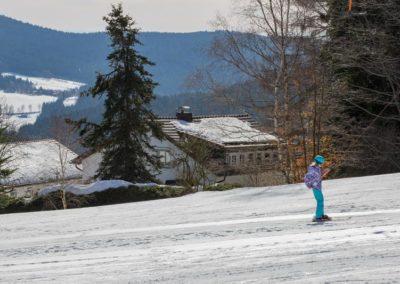 Skilift direkt vor der Tür